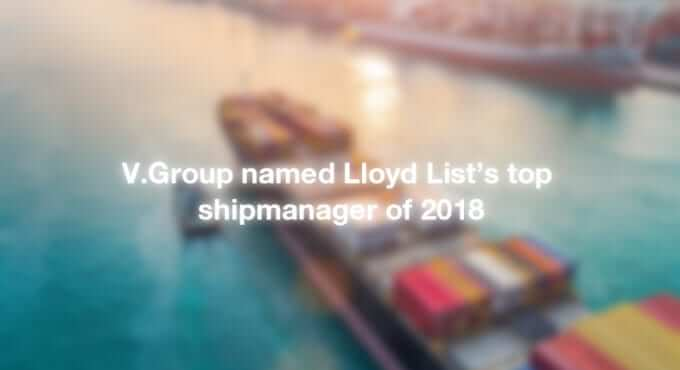 V.Group named Lloyd List's top shipmanager of 2018