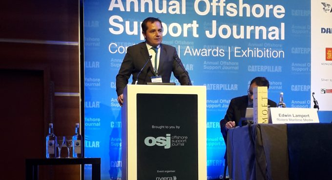 Alessandro Ciocchi, Director, V.Ships Offshore presents at Offshore Support Journal Conference 2020