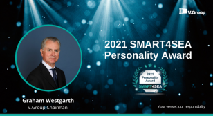 Graham Westgarth, V.Group Chairman, received the 2021 SMART4SEA Personality Award